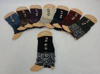 Knitted Boot Cuffs-2 Buttons [Solid Top-Variegated Bottom]
